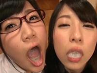 【エロ動画】ザーメン大好きビッチ達は出された白濁液を残さず飲んで口の中にたっぷり溜め込みながら味わってくれる