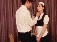 【エロ動画】ドMメイドにお仕置きセックス。御主人様の指をしゃぶらせて唾液まみれの手でおマンコを掻き混ぜる。仕上げはもちろんおチンポだ!