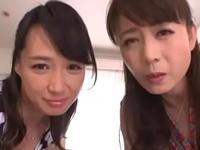 【エロ動画】欲求不満な痴女が2人居て寝られる訳がない!「ママたちに甘えたいなんてしょうがない子ねぇ♡」