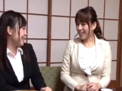 【エロ動画】「お願い、もっと突いて!」淫乱ビッチな巨乳人妻2人のムッチリボディを味わった結果→大量ザーメンを中出しした件