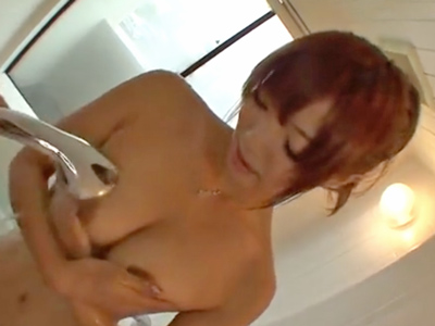 【エロ動画】陰毛のエッチな巨乳美女とお風呂でラブラブエッチ。勃起乳首を弄って愛液まみれのおマンコを手で掻き混ぜる。後背位から子宮を突き上げて、騎乗位セックスでお尻にぶっかけ