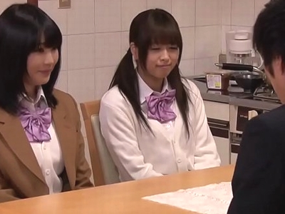 【エロ動画】再婚相手の娘はまさかのJK×2!その姿がエロ可愛すぎて寝込みを襲い近親相姦…チンポの味を知った娘たちは、父親チンポを欲しがってオネダリしまくり