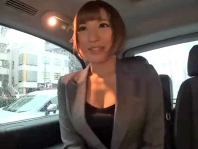 【エロ動画】デカパイ×ピッチリスーツがエロすぎる美人OLをナンパしたら→オナニーでおマンコをほぐしてもらって、我慢できなくなったチンポで色んな角度からピストンして中出し!