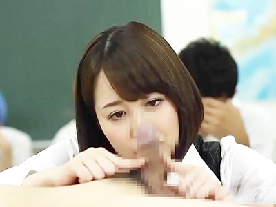 【エロ動画】たっぷりたまった精子が大好きな痴女先生!生徒たちの精子の溜まり具合を尋ねてフェラと手コキで抜いて、ごっくんまでしてくれる巨乳淫乱女教師登場!