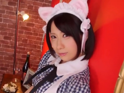 【エロ動画】【エロ動画】可愛いネコ耳貧乳メイドさんと一緒にオナニー!ちょっとの乳首舐め・指マンで純白パンティを濡らす痴女っぷりを見せる美少女の羞恥姿をどうぞ…