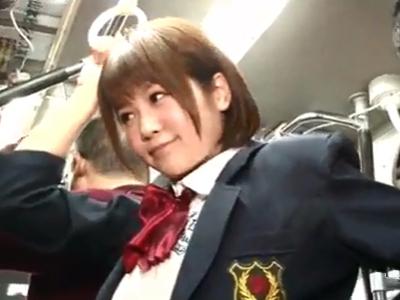 【エロ動画】痴漢願望のあるドスケベ女子高生のマンコを手マン・クンニで刺激する変態サラリーマン…素股で擦りつけバックでズブリと挿入し激ピストン!