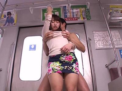 【エロ動画】痴漢プレイができるイメクラで巨乳お姉さんを手マンし膣穴にヌルヌルして勃起チンポを挿入!最後は騎乗位・バックで乳揺れさせながらピストンして濃厚ザーメンを大量発射!