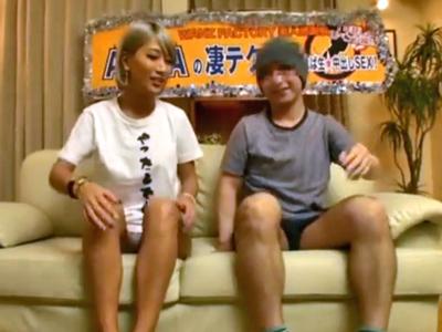 【エロ動画】巨乳美ギャルのAIKAに凄テクを見せつけられる素人男性。ちんぽをこねくり回すような手コキにバキュームフェラで責められたら即発射すること間違いなし!