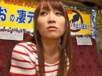 【エロ動画】倉田まおの極上フェラチオ&手コキに耐えられる!?もし我慢できたら生中出しOKだけど、興奮チンポは大暴発!
