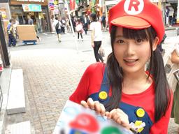 【エロ動画】渋谷でマ○オのコスプレをして客引きしてた女の子をナンパ!ホテルに連れ込みオスのキノコを生挿入しピストンしてみた!