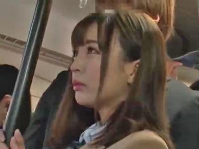 【エロ動画】可愛い過ぎる巨乳女子高生が通学バスと学校で痴漢レイプされる胸糞映像…手マンで無理やりマンコを刺激され正常位・駅弁で何度も犯されまくり