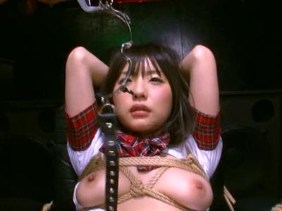 【エロ動画】緊縛した巨乳美少女つぼみちゃんに電流を流しながら電マ・手マンで刺激してチンポを挿入…そのまま騎乗位・バックでマンコ犯しまくり最後は濃厚ザーメンをごっくん