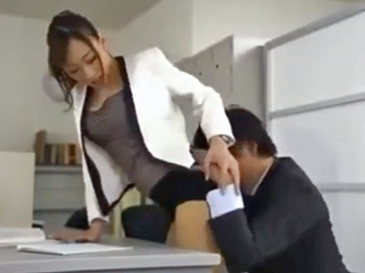 【エロ動画】巨乳女教師の蓮実クレアが同僚の先生を誘惑!パンスト越しにちんぽを素股されたらそのまま立ちバックで挿入する。キレイにお掃除フェラまでしてくれるw