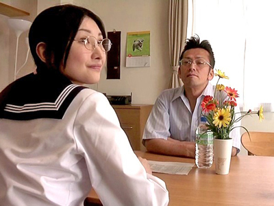 【エロ動画】メガネJK生徒会長が先生ちんぽをねっとりフェラ!巨乳を丸出しにしてクンニされると生ちんぽ挿入で口内射精フィニッシュ。足りずにオナニーまでしてしまうw