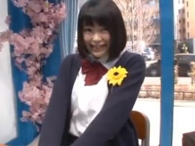 【エロ動画】卒業したての巨乳JKをMM号にナンパして電マ・ローターでパイパン拡張!ラストは卒業祝いに騎乗位・正常位で突きまくりザーメンを顔射ぶっかけ