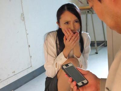 【エロ動画】用務員にレイプされた女教師。立花美涼!強引にフェラチオさせられたと思ったら、チンポを挿入されピストンごとに堕ちていく