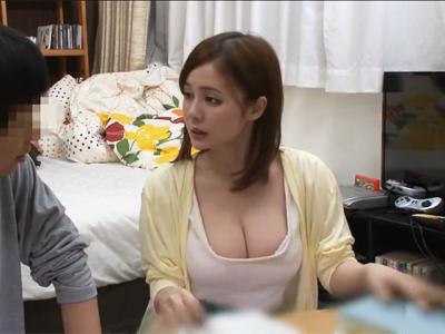 【エロ動画】デカパイがセクシーな家庭教師(吉川あいみ)が教え子に襲われガチイキ!色んな体位でパコパコするが、騎乗位の腰使いがエロすぎる!