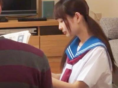 【エロ動画】受験を控えて居候する事になった姪っ子JKが美少女過ぎてチンコがギンギン!それがバレるとフェラチオから騎乗位でマンコをピストンする神展開に…