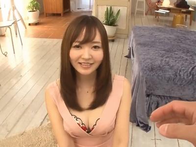 【エロ動画】巨乳ソープ嬢・堺希美がAV出演!最高の手コキ&フェラチオでご奉仕された後は、セクシーなグラインドでねっちょり騎乗位