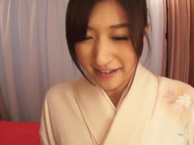 【エロ動画】しっとりと美しい…和服美人・神波多一花とねっとり着衣パコ→濃厚ザーメンを口内射精しゴックンしてもらいたい!