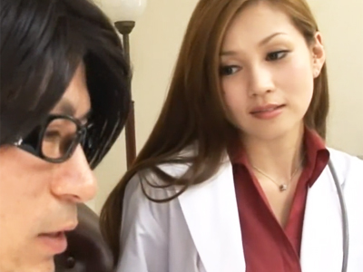 【エロ動画】巨乳痴女な女医に誘惑されて流されるままにセックス…ギンギンの肉棒をフェラチオで責められまくり騎乗位・正常位で中出しを強制される最高のひと時に…