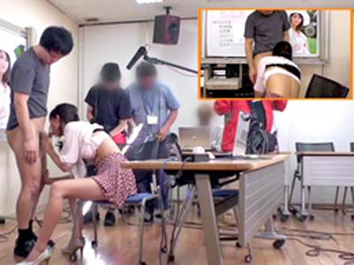 【エロ動画】お嬢様な巨乳スレンダー美女・麻生希をゲリラ生ハメする企画!会議室でパンティ脱がしてクンニで濡れたマンコをバック・正常位で滅茶苦茶に犯しまくる…!
