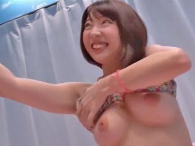 【エロ動画】MM号で巨乳ビキニ娘が筆おろし!ネットリ系フェラチオで勃起させた童貞チンポをエッチな腰使いでマンコにお迎え