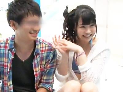 【エロ動画】彼氏持ちの美乳娘とMM号で…マッサージで発情させてミラー越しに見せつける羞恥NTRセックス!